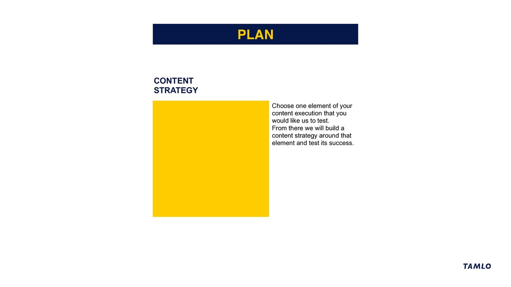 CONTENT STRATEGY PLAN Choose one element of you...