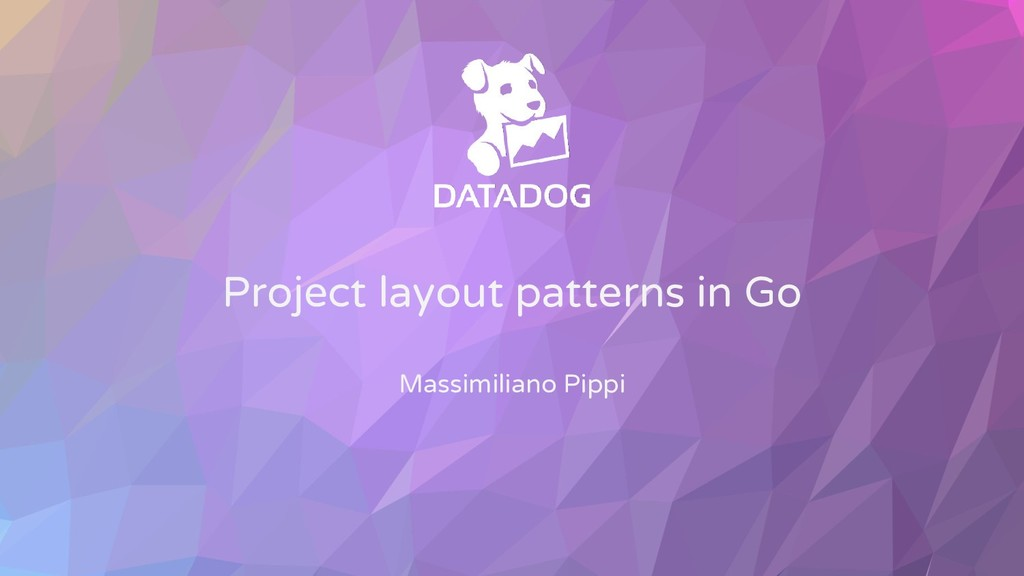 Project layout patterns in Go Massimiliano Pippi
