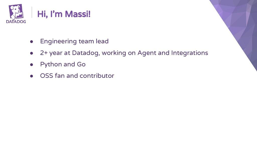 ● Engineering team lead ● 2+ year at Datadog, w...