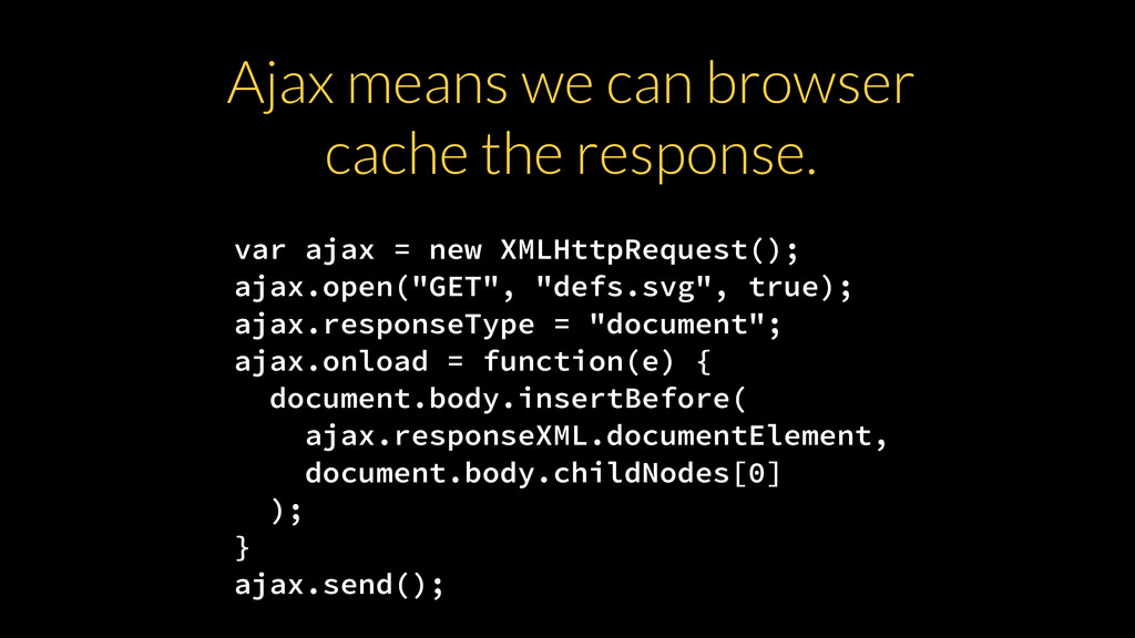"var ajax = new XMLHttpRequest(); ajax.open(""GET..."