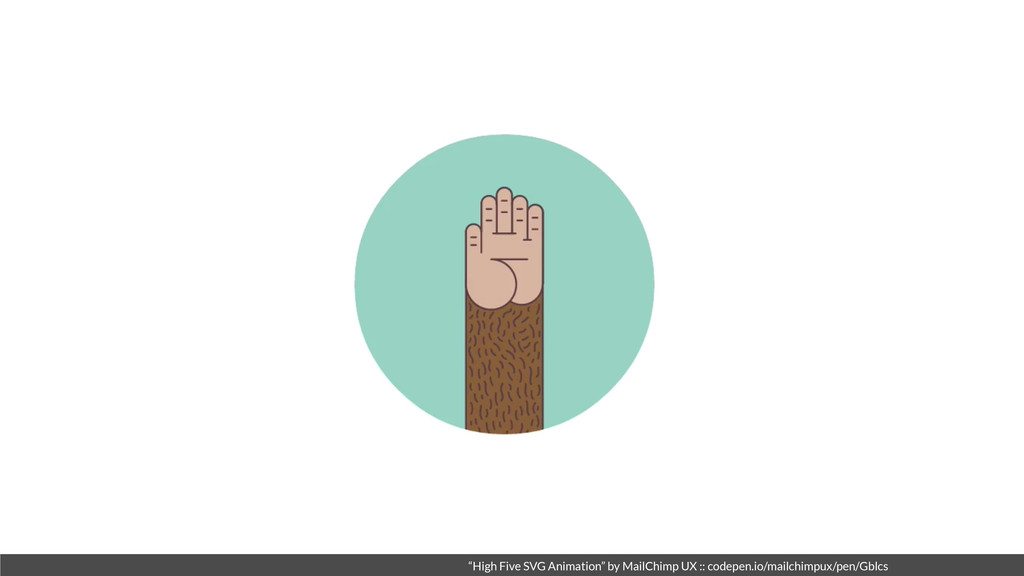 """High Five SVG Animation"" by MailChimp UX :: co..."