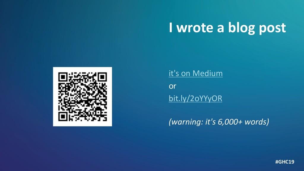 it's on Medium or bit.ly/2oYYyOR (warning: it's...