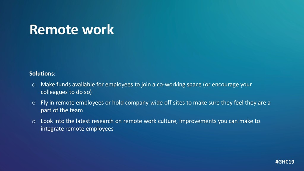 Remote work Solutions: o Make funds available f...