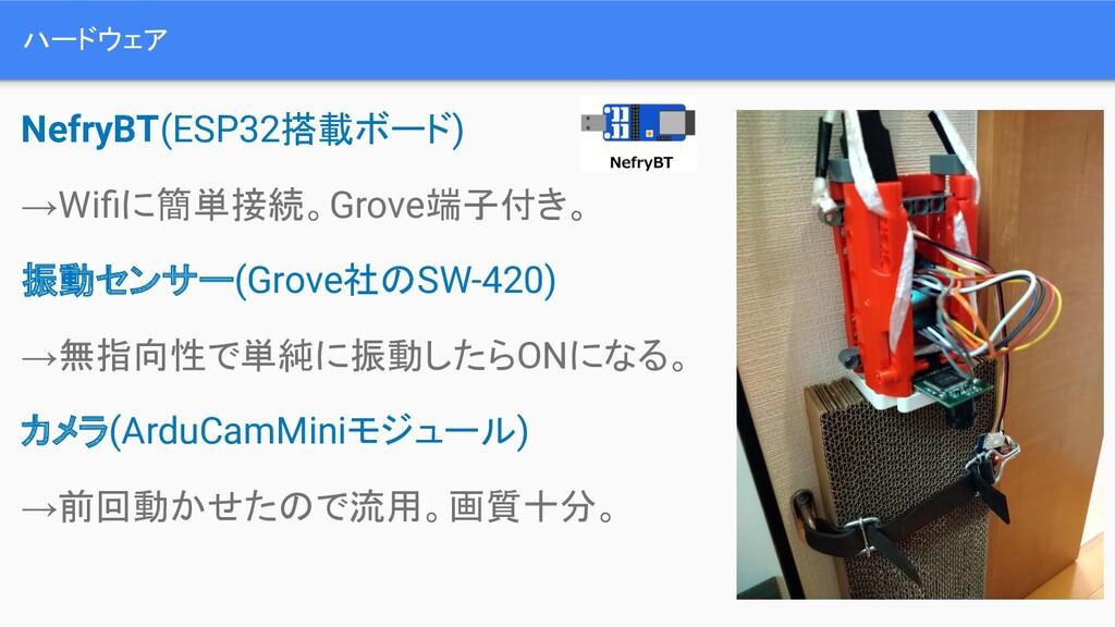 ハードウェア NefryBT(ESP32搭載ボード) →Wifiに簡単接続。Grove端子付き。...