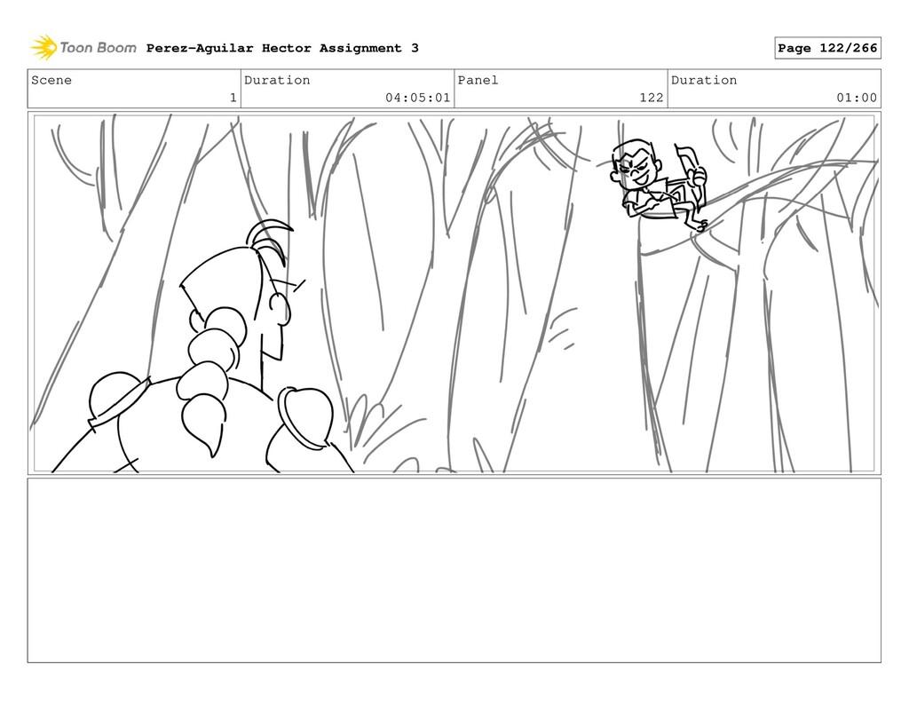 Scene 1 Duration 04:05:01 Panel 122 Duration 01...