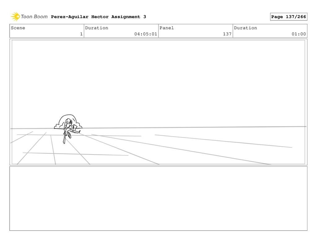 Scene 1 Duration 04:05:01 Panel 137 Duration 01...