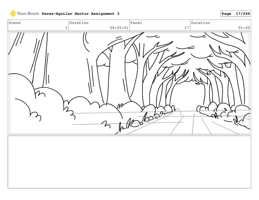 Scene 1 Duration 04:05:01 Panel 17 Duration 01:...