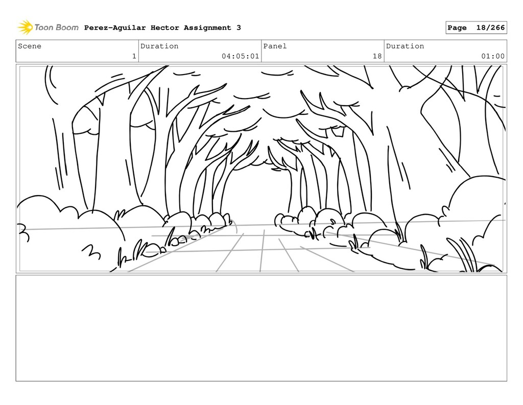 Scene 1 Duration 04:05:01 Panel 18 Duration 01:...