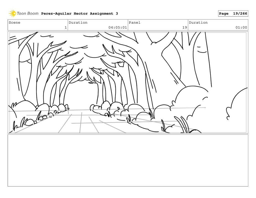 Scene 1 Duration 04:05:01 Panel 19 Duration 01:...