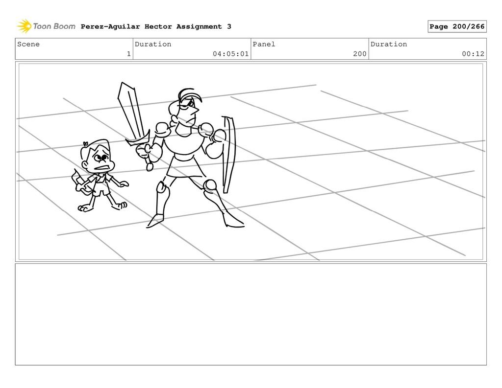 Scene 1 Duration 04:05:01 Panel 200 Duration 00...