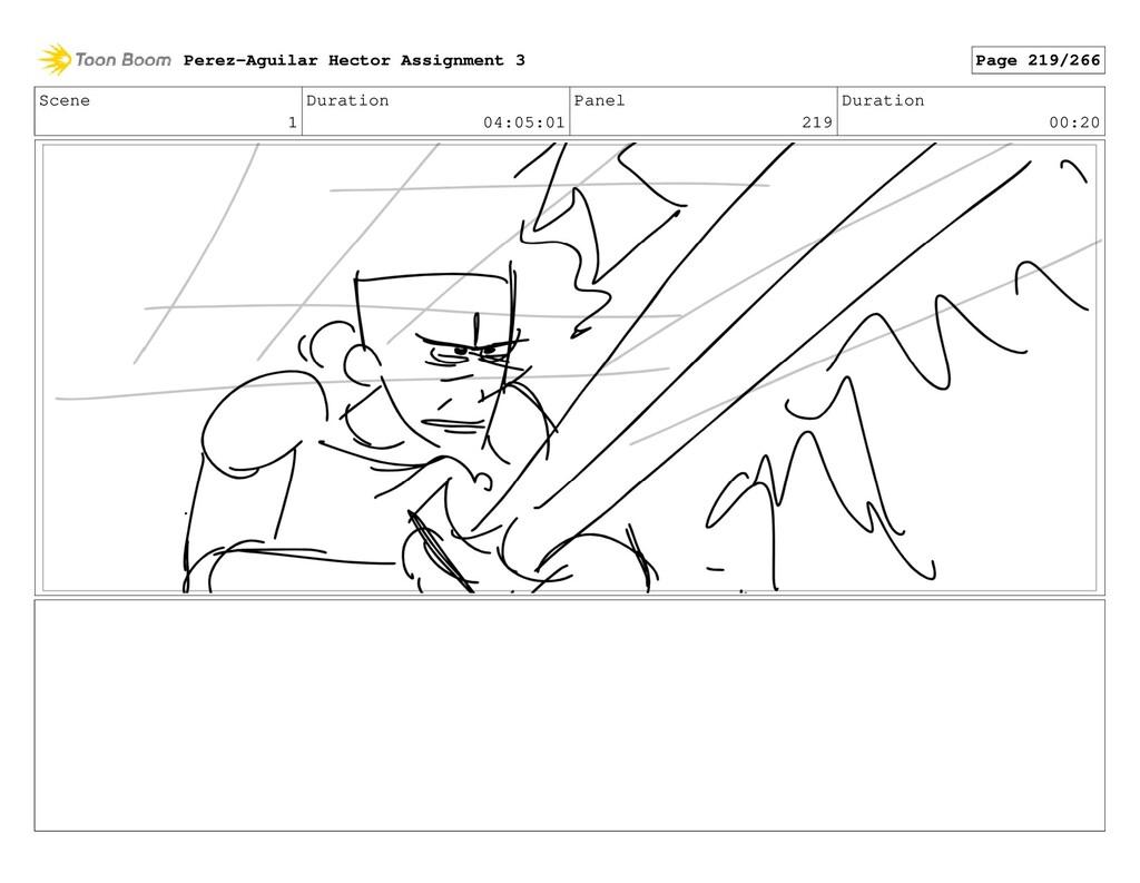 Scene 1 Duration 04:05:01 Panel 219 Duration 00...