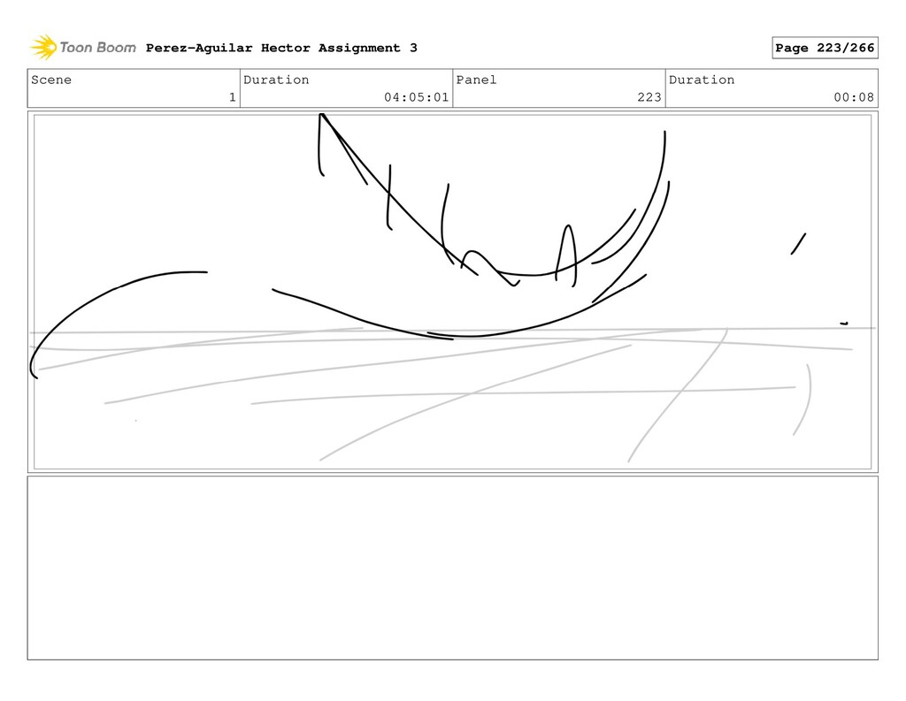 Scene 1 Duration 04:05:01 Panel 223 Duration 00...