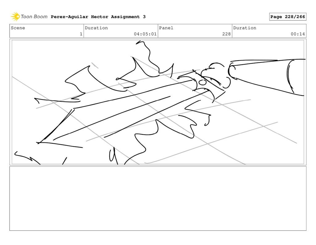 Scene 1 Duration 04:05:01 Panel 228 Duration 00...