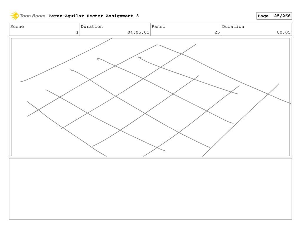 Scene 1 Duration 04:05:01 Panel 25 Duration 00:...