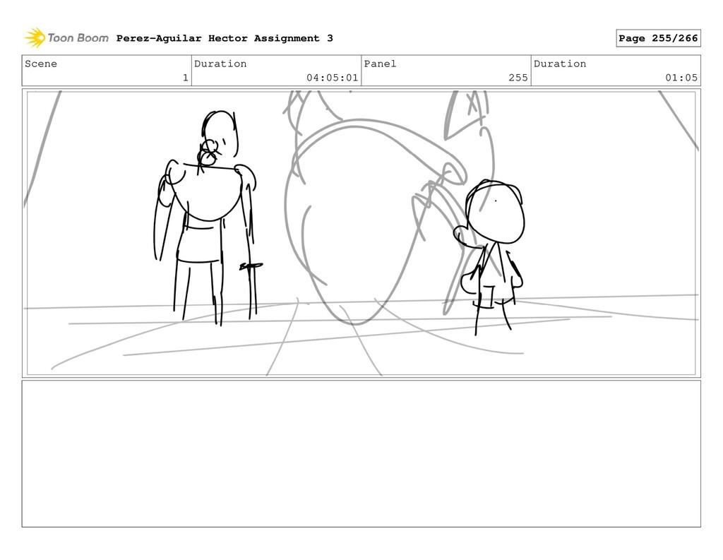 Scene 1 Duration 04:05:01 Panel 255 Duration 01...
