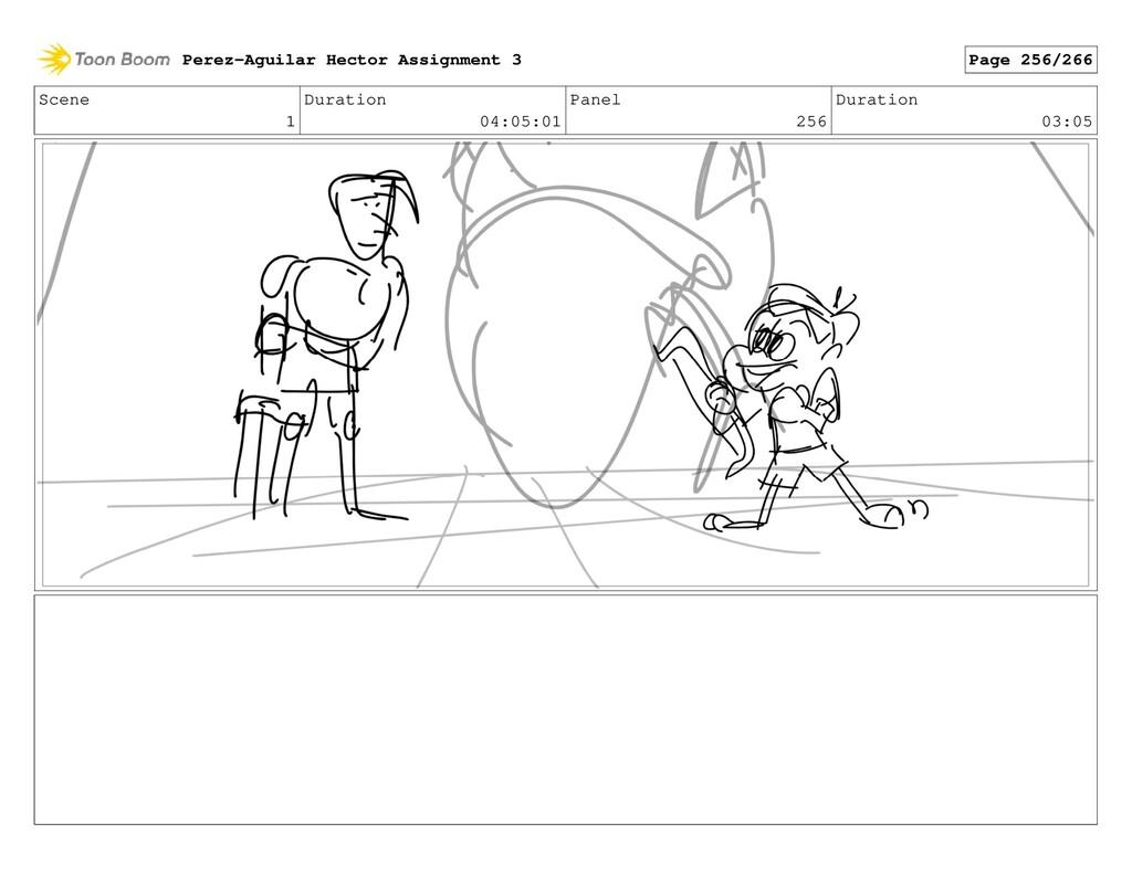 Scene 1 Duration 04:05:01 Panel 256 Duration 03...