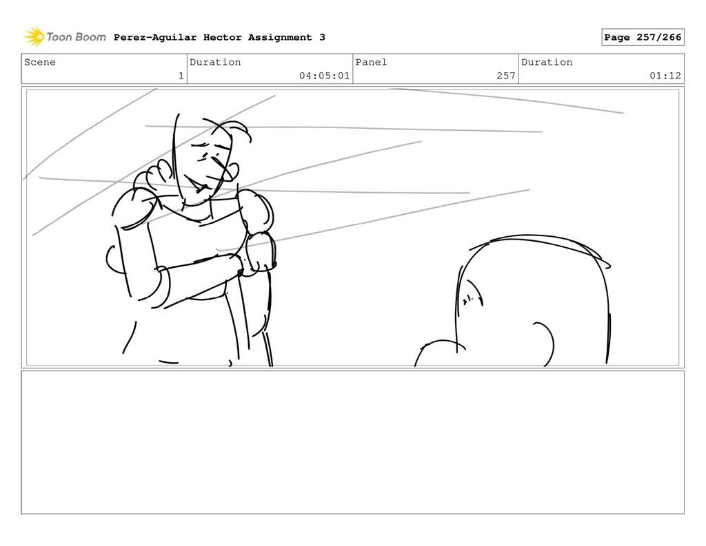Scene 1 Duration 04:05:01 Panel 257 Duration 01...