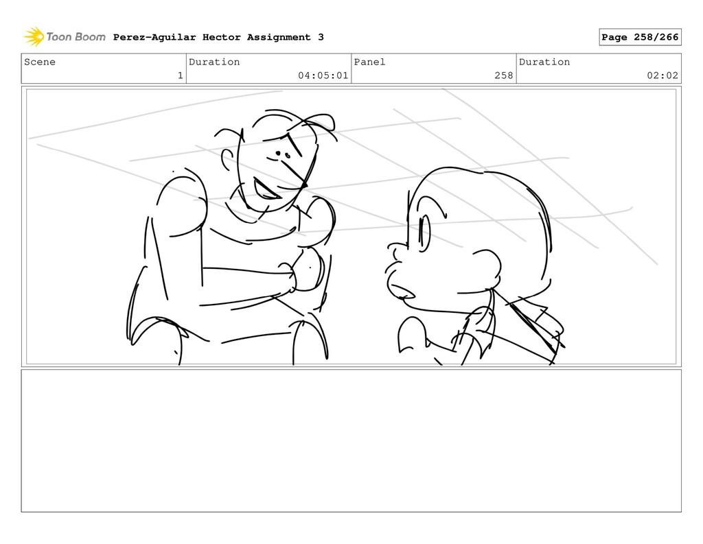 Scene 1 Duration 04:05:01 Panel 258 Duration 02...