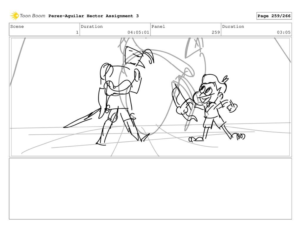 Scene 1 Duration 04:05:01 Panel 259 Duration 03...