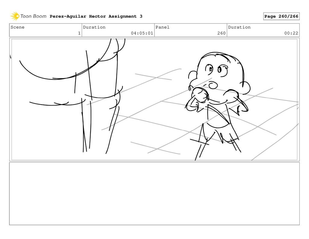 Scene 1 Duration 04:05:01 Panel 260 Duration 00...
