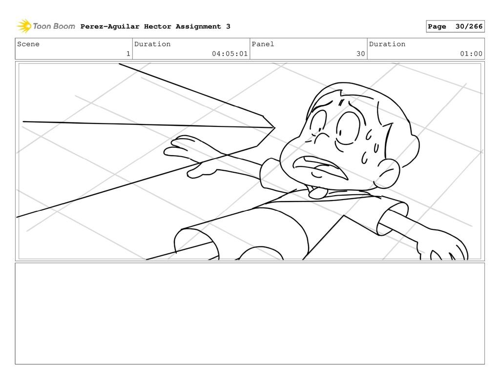 Scene 1 Duration 04:05:01 Panel 30 Duration 01:...