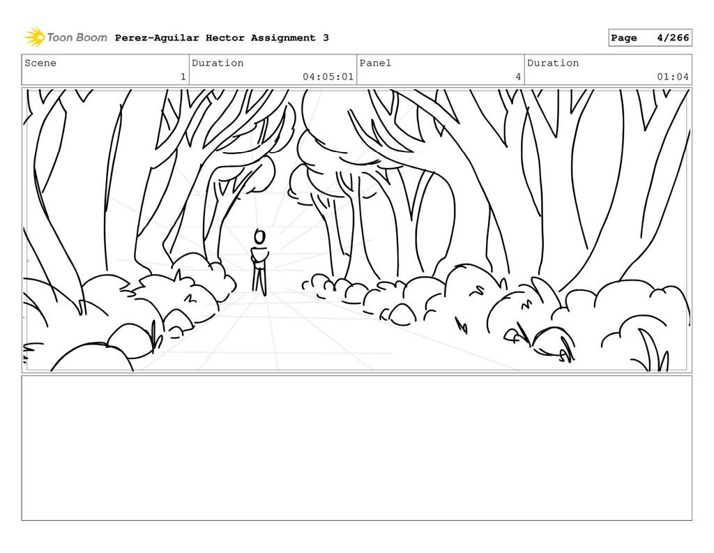 Scene 1 Duration 04:05:01 Panel 4 Duration 01:0...