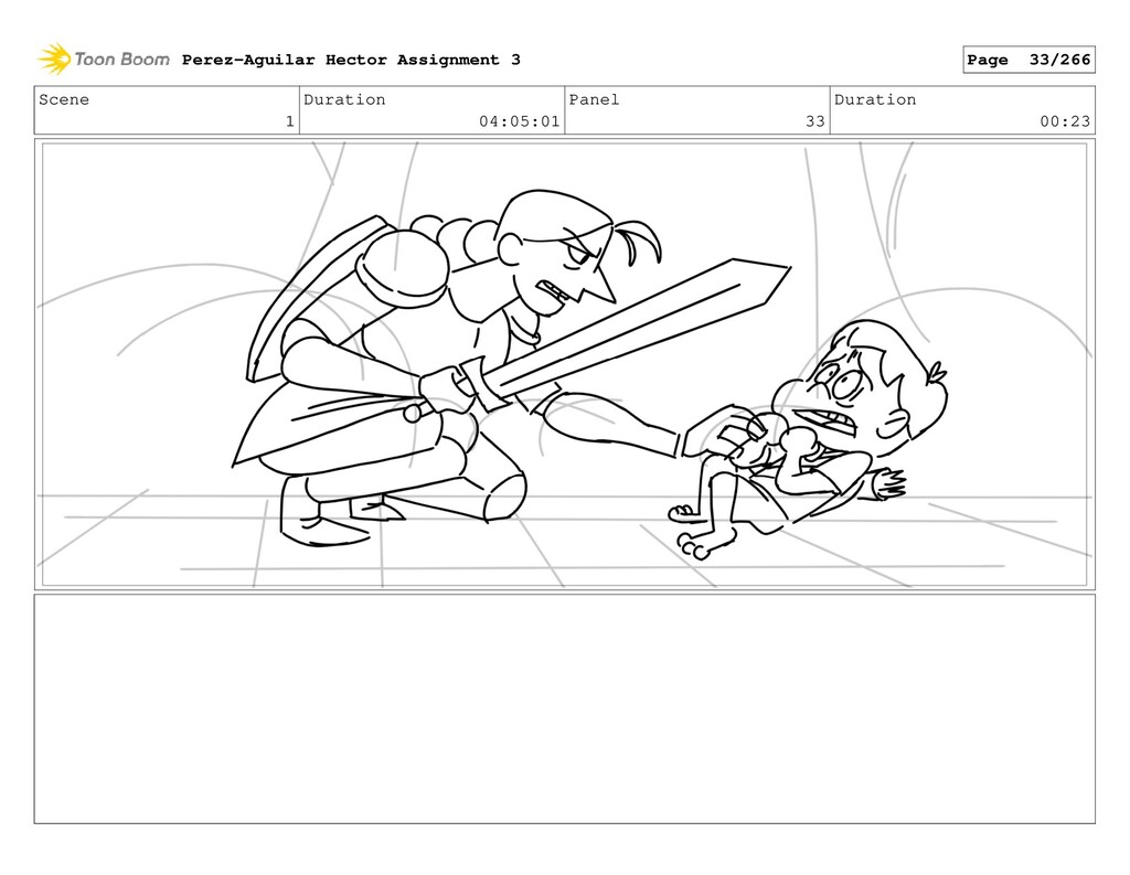 Scene 1 Duration 04:05:01 Panel 33 Duration 00:...
