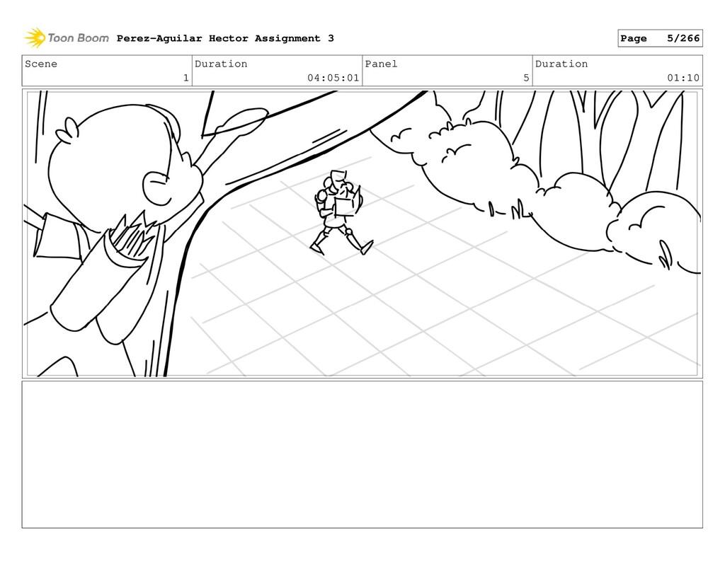 Scene 1 Duration 04:05:01 Panel 5 Duration 01:1...