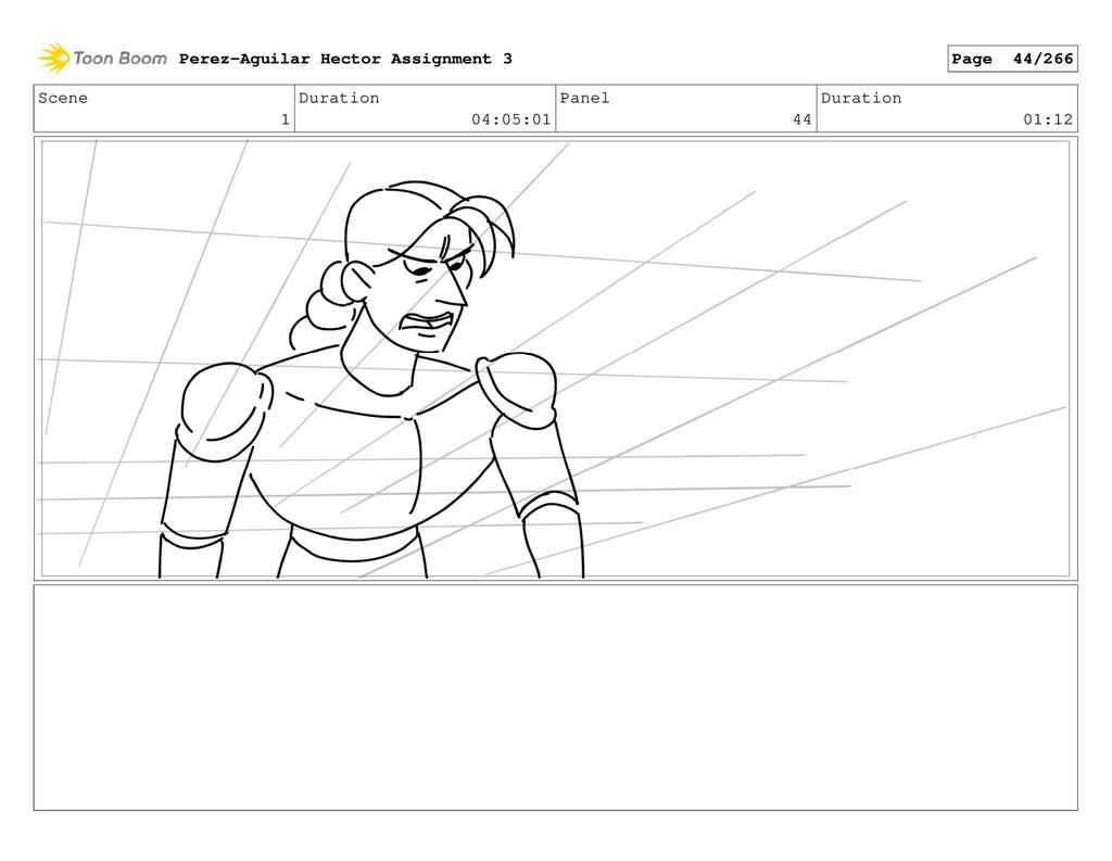 Scene 1 Duration 04:05:01 Panel 44 Duration 01:...