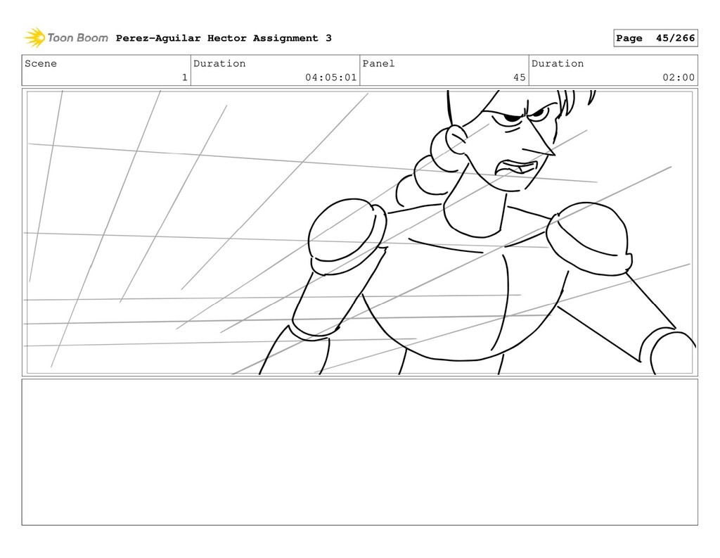 Scene 1 Duration 04:05:01 Panel 45 Duration 02:...