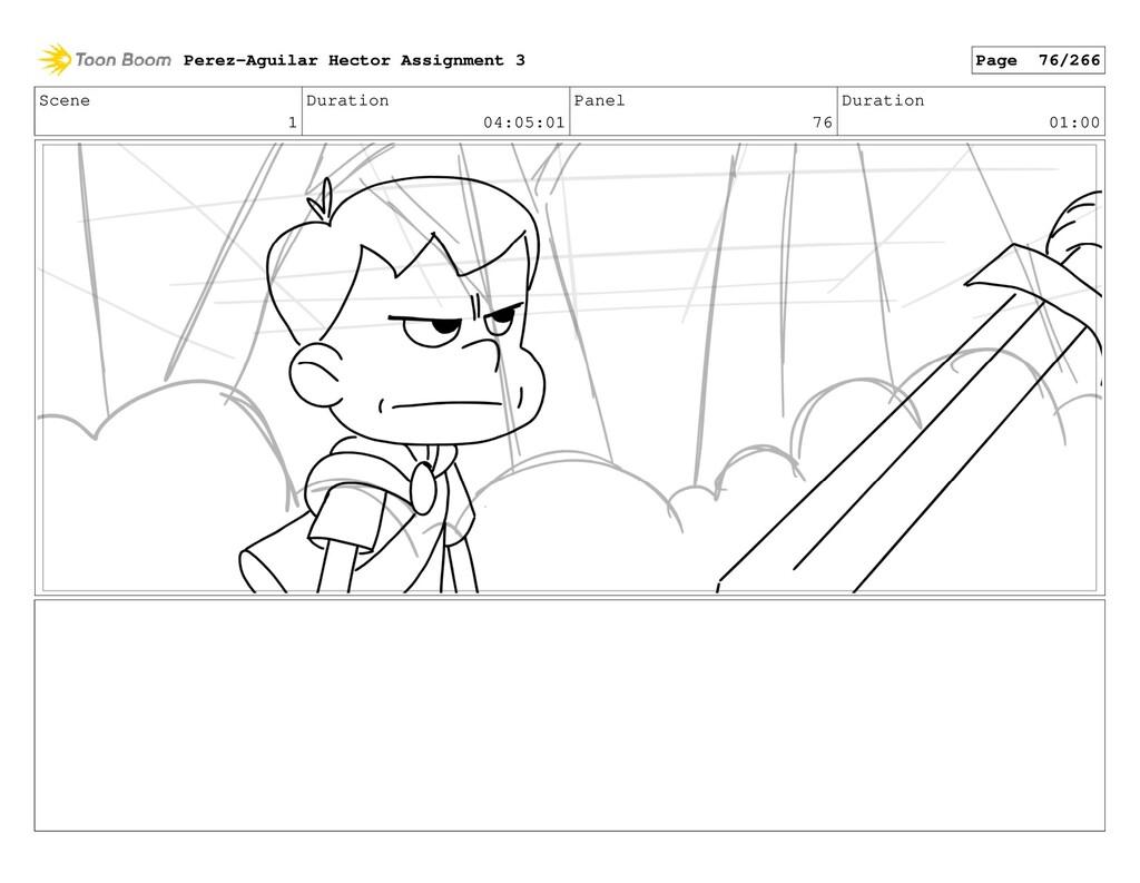 Scene 1 Duration 04:05:01 Panel 76 Duration 01:...