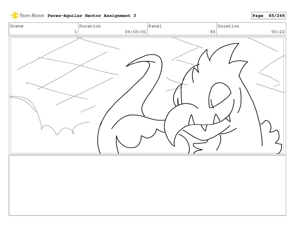 Scene 1 Duration 04:05:01 Panel 85 Duration 00:...