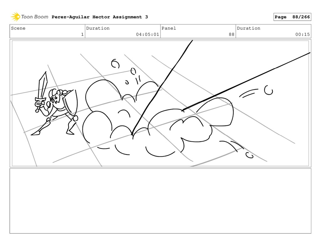 Scene 1 Duration 04:05:01 Panel 88 Duration 00:...