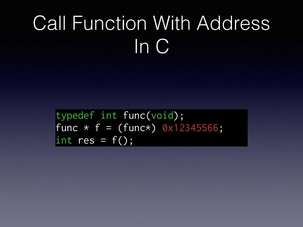Call Function With Address In C typedef int fun...