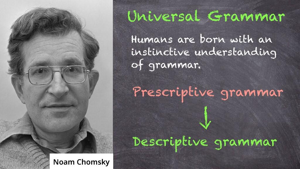 Noam Chomsky Universal Grammar Humans are born ...