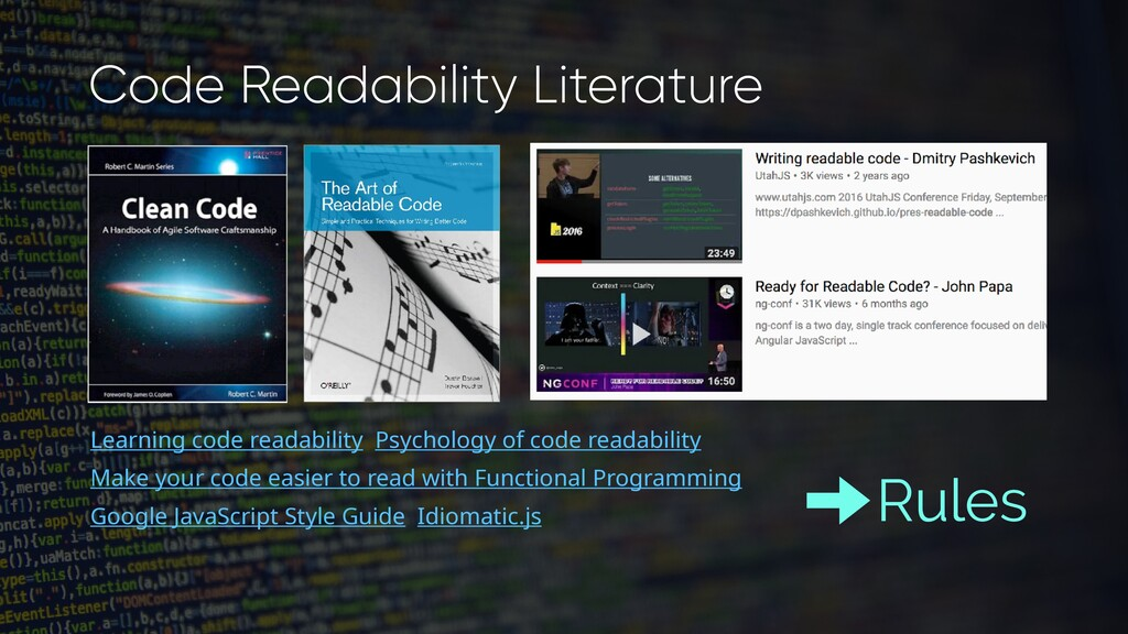 Learning code readability Psychology of code re...