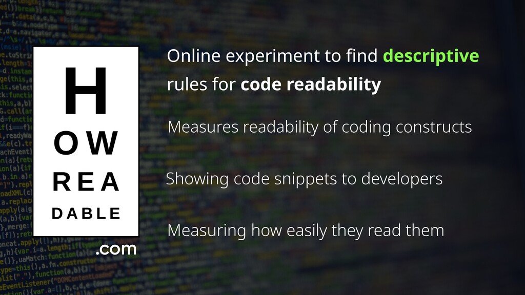 Online experiment to find descriptive rules for...