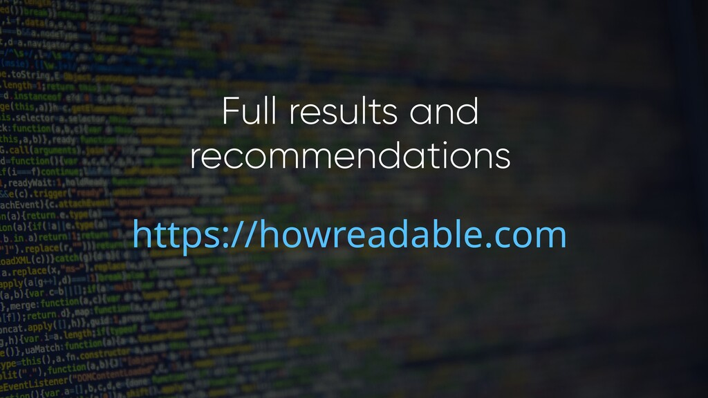 Full results and recommendations https://howrea...