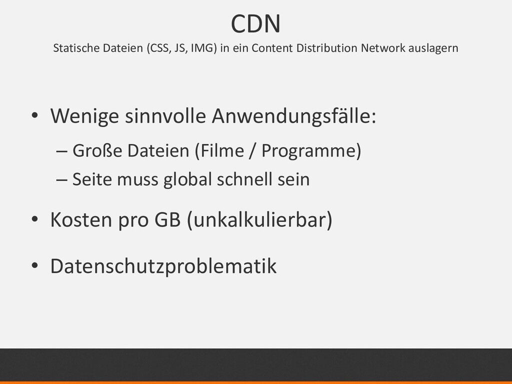 CDN Statische Dateien (CSS, JS, IMG) in ein Con...