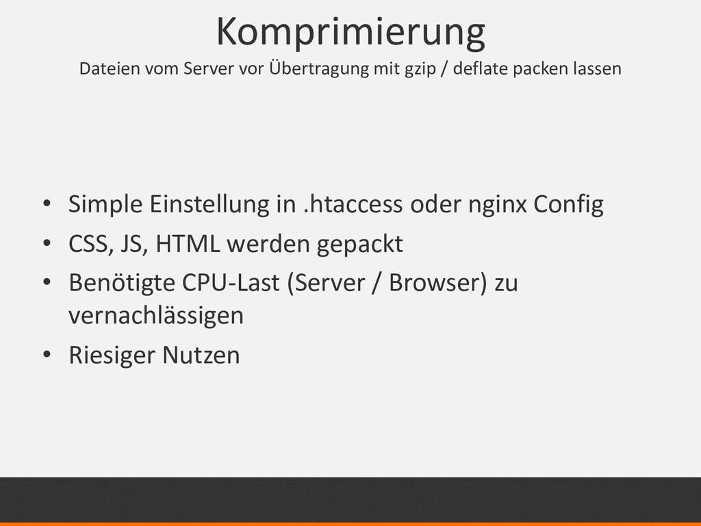Komprimierung Dateien vom Server vor Übertragun...