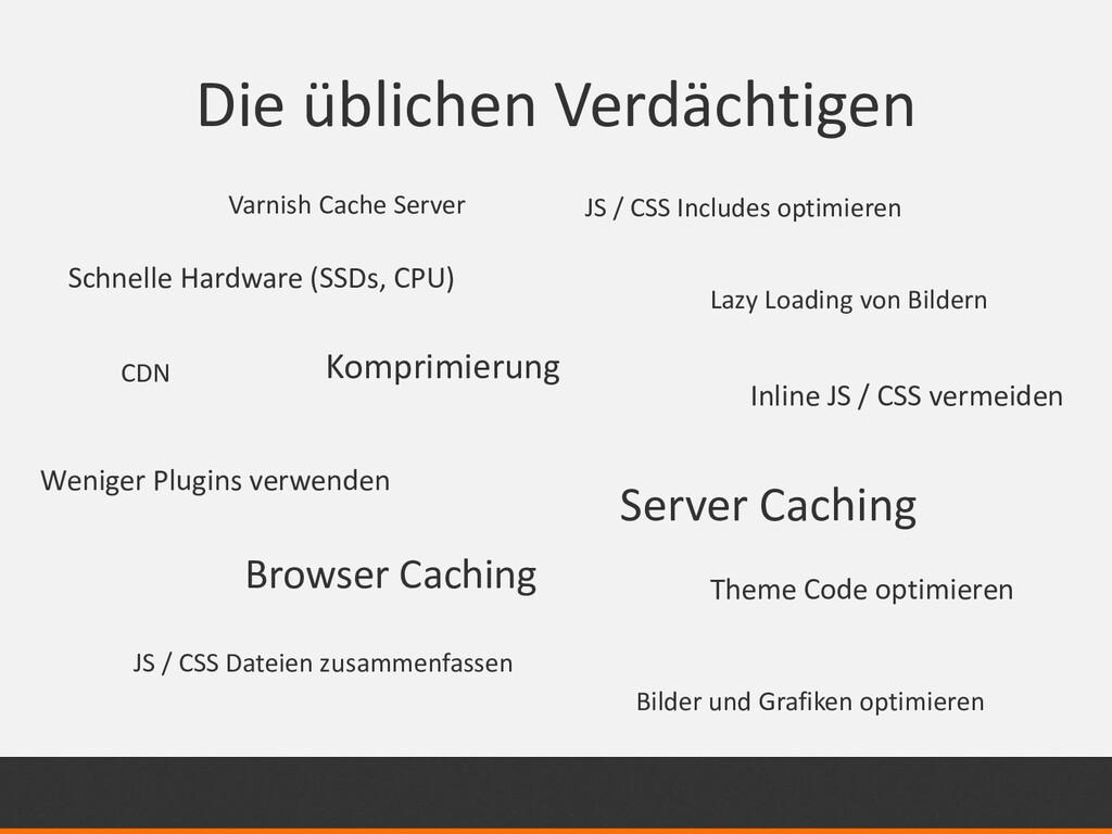 Die üblichen Verdächtigen JS / CSS Dateien zusa...