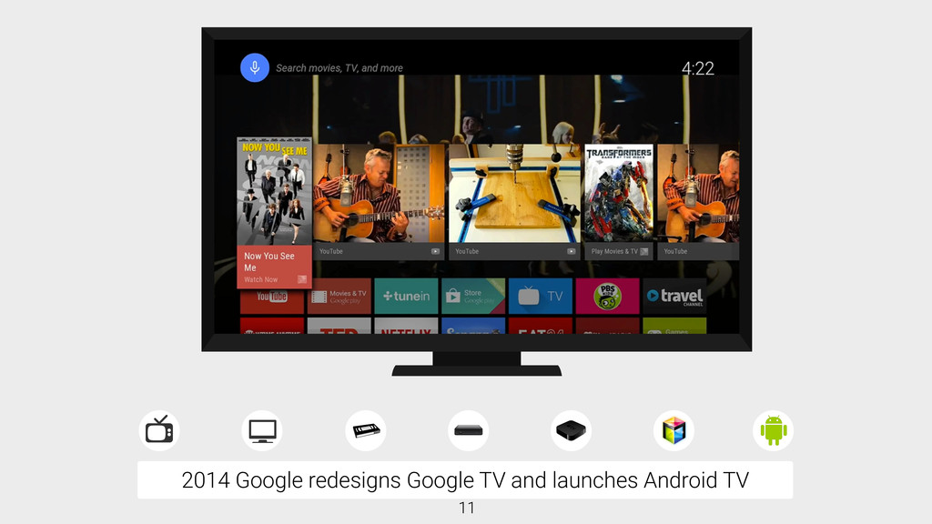 2014 Google redesigns Google TV and launches An...
