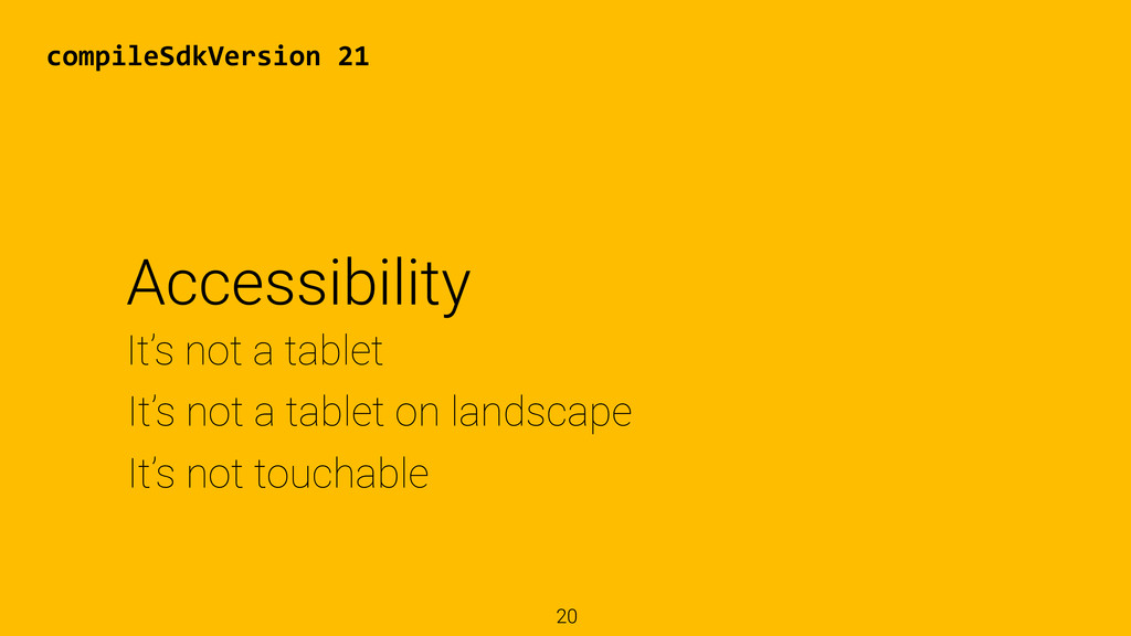 20 It's not touchable It's not a tablet on land...