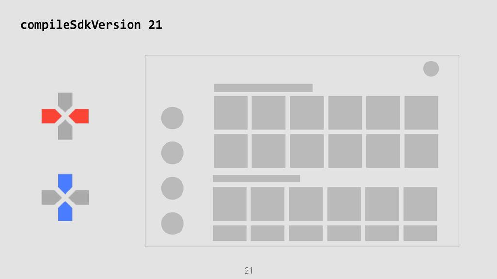 21 compileSdkVersion 21