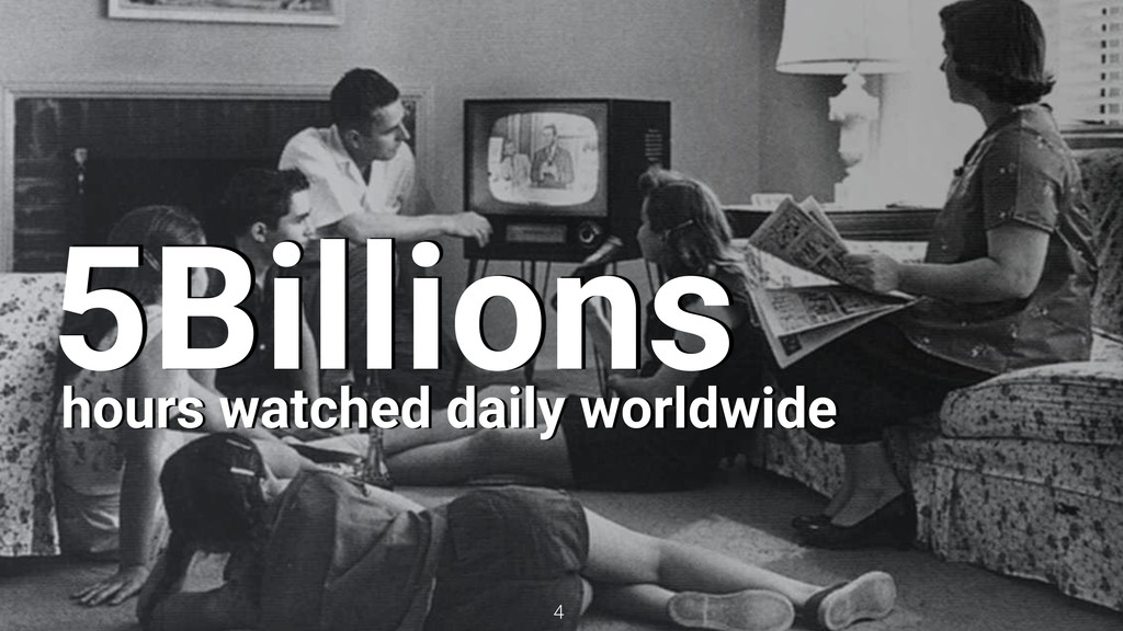 4 5Billions hours watched daily worldwide