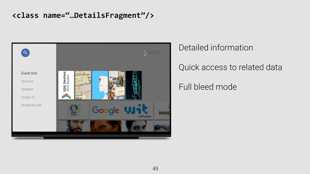 Detailed information Quick access to related da...