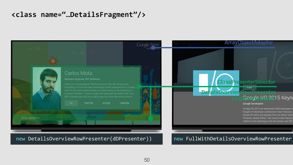 "<class name=""…DetailsFragment""/> 50 new D..."