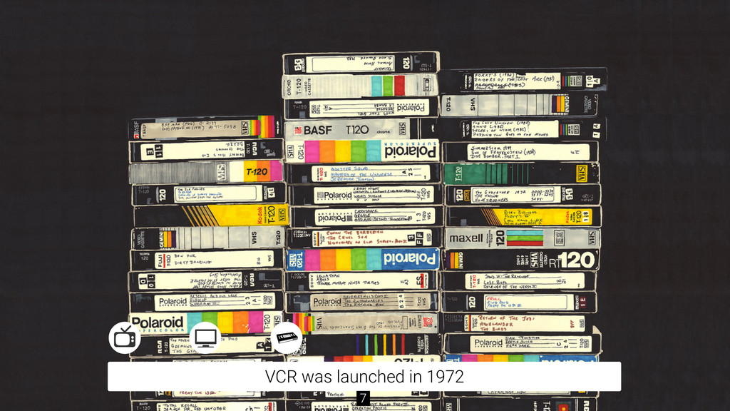 VCR was launched in 1972 7