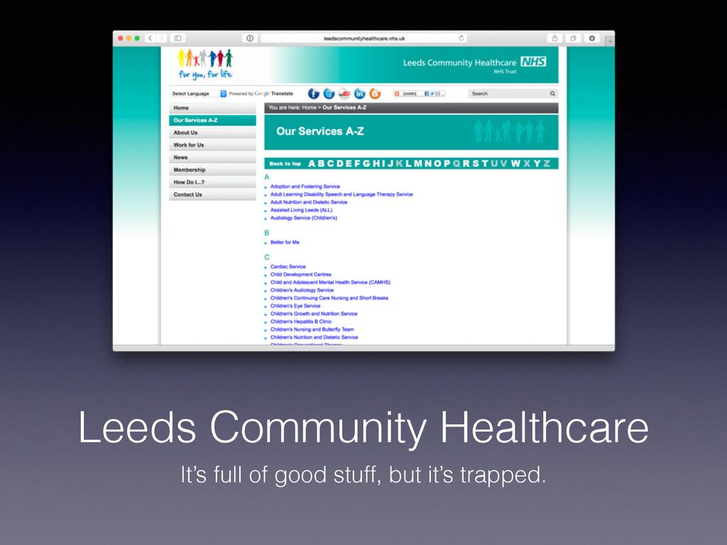 Leeds Community Healthcare It's full of good st...