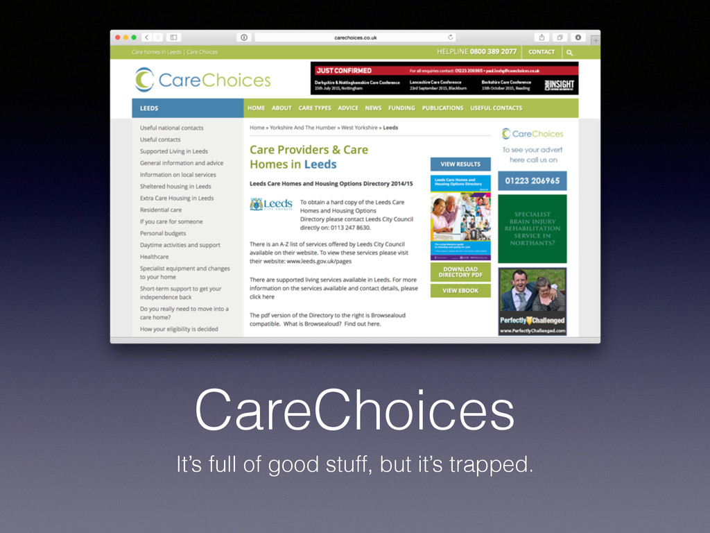 CareChoices It's full of good stuff, but it's t...